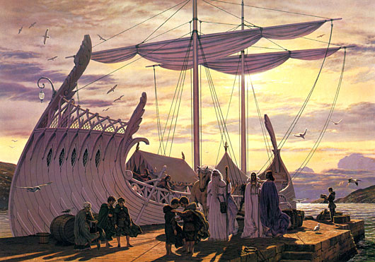 Departure at the Grey Havens (1996), Ted Nasmith